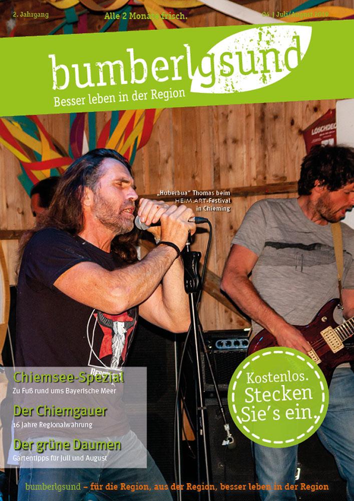 aktuelle Ausgabe des Regionalmagazins bumberlgsund